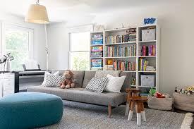 kids room gray sofa