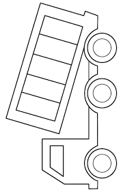 Easy Dump Truck Printable Coloring Page