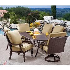 costco patio furniture dining sets. villa 7-piece cushioned patio dining set costco furniture sets o