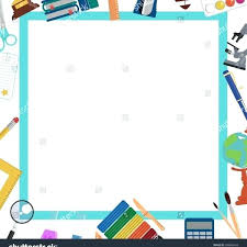 frame template word school background frame template education design stock vector