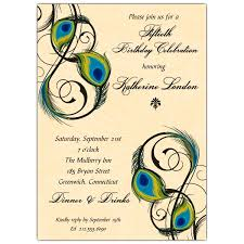 Peacock Invitations Peacock Feathers Birthday Invitations Paperstyle