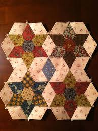 248 best Hexagons and six pointed star quilts! images on Pinterest ... & DK: Stars of Savannah pattern from Paper pieces.com...Civil War Adamdwight.com