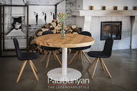 las vegas round reclaimed wood and metal table