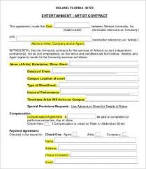 artist contract template 10 free word pdf doents inside makeup artist contract template