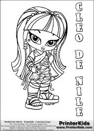 Small Picture Stunning Monster High Chibi Coloring Pages Ideas Coloring Page