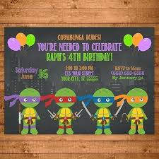 ninja turtle birthday invitations teenage mutant ninja turtles invitation chalkboard ilrations invite ninja turtles birthday party favors ninja turtle