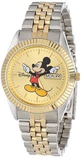 amazon com disney men s mm0060 two tone mickey mouse watch disney men s mm0060 two tone mickey mouse watch day and date movement