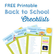 School Checklist A Checklist To Make Back To School Shopping Easy And Budget Friendly