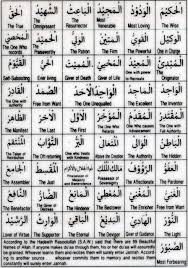99 Names Of Allah With Meanings Hd Picture Irfandoggar Com