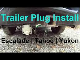trailer plug wiring escalade tahoe yukon pin pin how trailer plug wiring escalade tahoe yukon 7 pin 4 pin how to