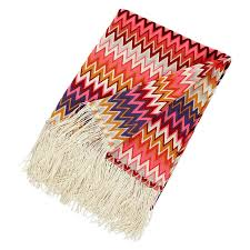 missoni home margot throw  in a vibrant color palette  stardust
