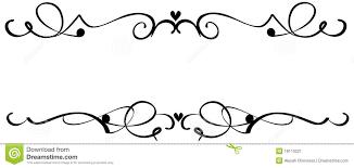 Scroll Heart Scroll Heart Ornaments Stock Vector Illustration Of Line