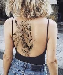 тату лев на спине тату лев девушка тату тату татуировки и