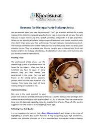 reasons for hiring a party makeup artist are you worried about your next bachelor party don t get a tension and look for a party makeup artist