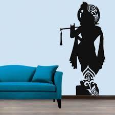 <b>Lord</b> Krishna <b>Wall Decal</b> | Diy wall painting, Wall drawing, Wall ...