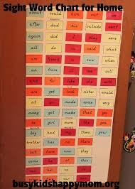 Sight Words For Home