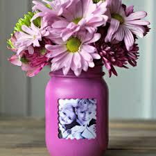 mother s day turn a mason jar into a frame vase