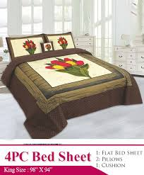 king size bed sheet ab 164 3d king size bedding double bed sheet in cotton she9 pk