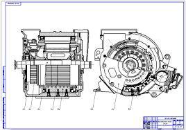 Технология ремонта тягового электродвигателя ТЛ К Чертеж тягового двигателя
