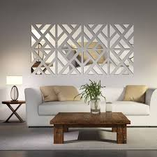 style beautiful mirror wall decoration ideas living room mirrored chevron print 6 3 seater sofa