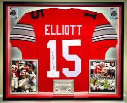 Premium Framed Ezekiel Elliott Autographed Ohio State Buckeyes Jersey - JSA  COA