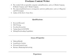 Sample Marketing Writer Resume Freelance Writing Resume Samples