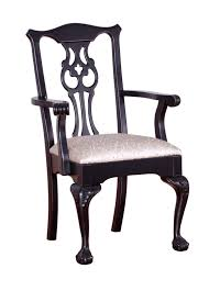 Wooden Chairs For Living Room Furniture Black Wooden Dining Chair With Silver Accent