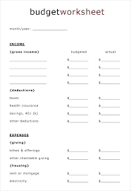 Free Family Budgeting Worksheets Free Printable Monthly Budget Family Template Worksheets