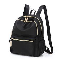 2019 Casual Oxford Backpack Women Black <b>Waterproof Nylon</b> ...