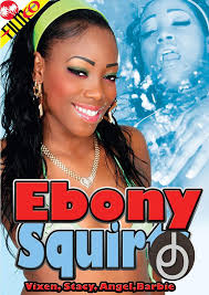 Ebony serrie squirts out white cum