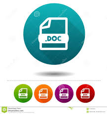 Download Word Doc Word Document Icon Download Doc Symbol Sign Web Button Stock