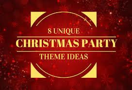 unique christmas party theme ideas