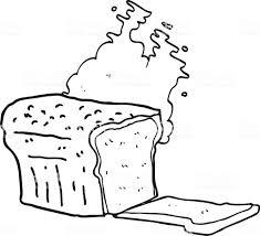 白黒カットイラスト焼きたてのパン いたずら書きのベクターアート素材