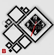 pictures of 3d diy laser cut designer wall clock creative studio