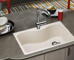 Granite Countertop  White Single Bowl Drop In Kitchen Sink Delta White Single Bowl Drop In Kitchen Sink