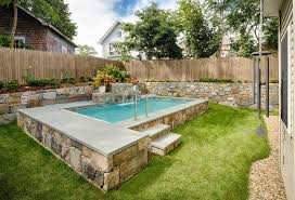 NJ Landscaping And Pool Designs For Small Backyards  NJ Landscape Swimming Pool In Small Backyard