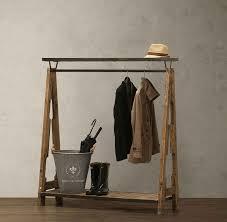 Rustic Wooden Coat Rack American Iron retro rustic wood coat rack hanger floor display shelf 93