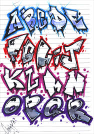 Graffiti Letter Templates Graffiti Alphabet Letter Template 20 Free