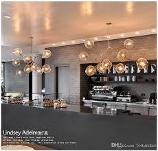 lindsey adelman light creative branching bubble glass chandelier modern art pendant light office living room light hanging ceiling light pendant