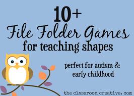 File Folder Games For Teaching Shapes