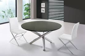 image of extendable round dining table modern