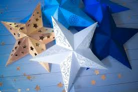 Template For A Star 3d Paper Star Template Paper Star Instructions And Free Template