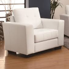 enright white leather chair
