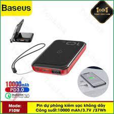 TopLink] Pin Dự Phòng Tích Hợp Sạc Nhanh Không Dây Baseus F10W 10000mah  (10W Wireless, 18W PD/ Quick Charge 3.0)