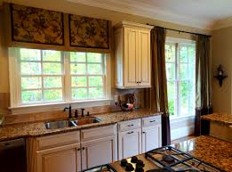 Long Curtains In Kitchen Bathroom Engaging Kitchen Window Curtains Ideas Funky Home Red