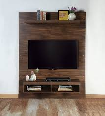 Tv Stand Size Chart Dylan Wall Mounted Tv Unit In Matte Brown Finish By Casacraft