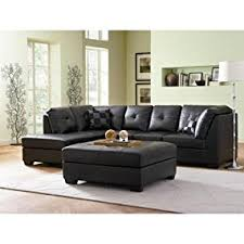 leather sectional couches. Contemporary Black Leather Sectional Sofa Left Side Chaise By Coaster Couches E