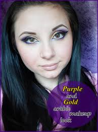o bunnies today we re back to basics doing a purple and gold arabic makeup look or a purple and gold arabian makeup look if you want cause it sounds