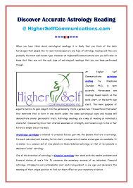 Discover Accurate Astrology Reading By Higher Self