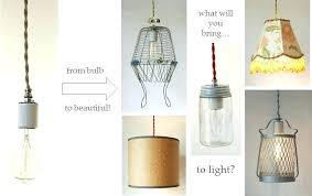 cool diy pendant lighting kit pendant lights cloth cord swag pendant light kits make anything into cool diy pendant lighting
